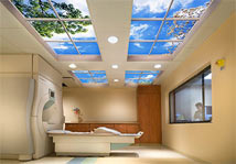 Sentara Williamsburg Hospital features a Luminous SkyCeiling designed by HDR, Inc.