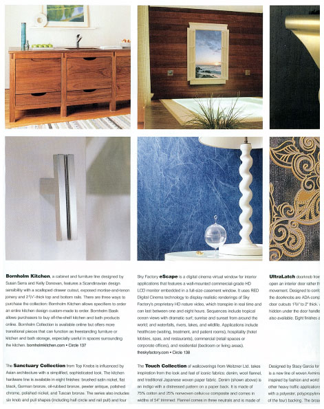 Sky Factory eScape featured in Architect Magazine's Spring Product Spec Guide